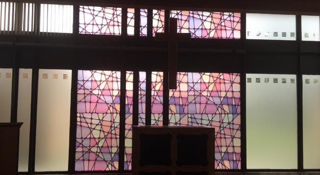 Wonderful Stained Glass Window Film : Wonderful Stained Glass Window Film : STAINED GLASS AND PRIVACY