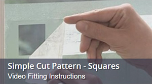 How To Fit Window Film With Square Cut Pattern