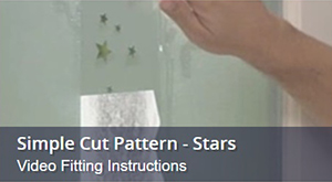 How To Fit Window Film With Frosted Star Pattern