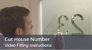 How To Fit Widow Film With Cut Out House Number