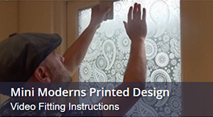How To Fit Window Film With A Printed Design By Mini Moderns