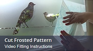 How to install window film with a cut pattern fitting instructions video