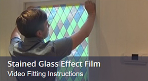 How To Fit Stained Glass Window Film