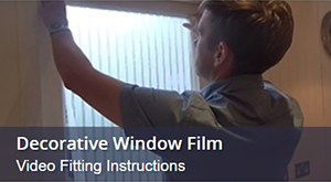 How To Fit Decorative Window Film To Glass