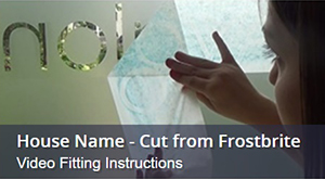 Fitting A Frosted Window Film House Name