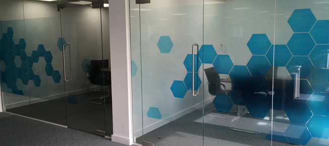 Office Branding Printed Graphics For Suffolk Office Fit Out