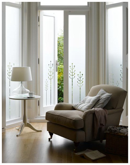 the window film company were contacted by a homeowner just outside london because they wanted to increase privacy on the bay window of their sitting room - Frosted Window Film