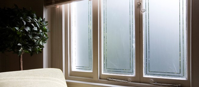 Window Film With Cut Frosted Patterns For Your Home