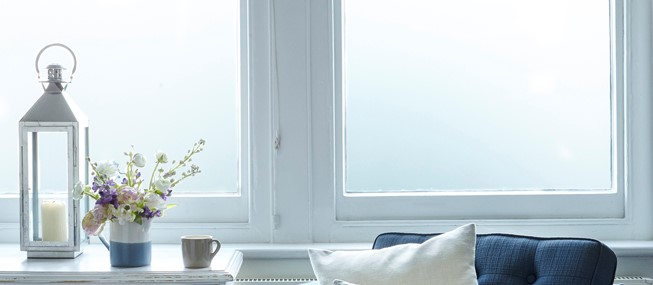 Stylish and effective privacy film for glass