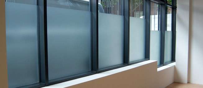 Privacy window film for offices commercial premises - Interior window tinting for privacy ...
