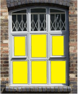 Yellow Window Film Solid Colour 4232