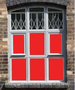 Red Window Film Solid Colour 4243