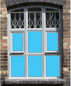 Pale Blue Window Film Solid Colour 4250