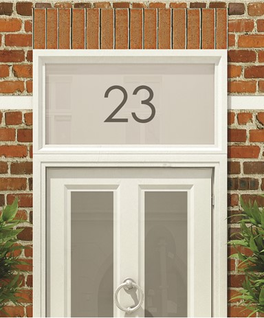 Frosted Numbers Amp Text For The Front Door Of Your Home