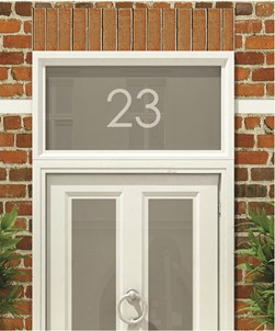 House Numbers & Text Window Design HN002
