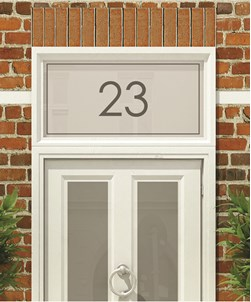 House Numbers & Text Window Design HN003