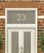House Numbers & Text Window Design HN004