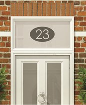House Numbers & Text Window Design HN009