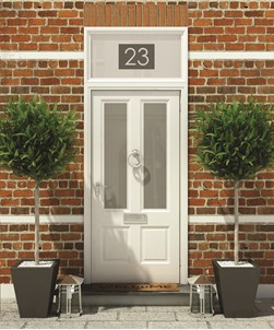 House Numbers & Text Window Design HN005