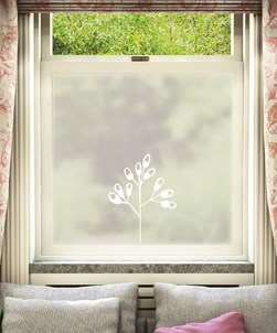 Anlegg Floral Window Film Design