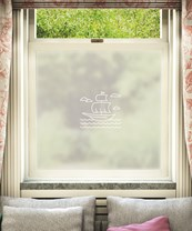 Schiff Window Film White Ship Design