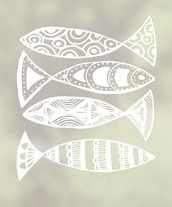 Escolar Window Film Funky Fish Design