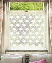 Patterned Window Film - Flamenco